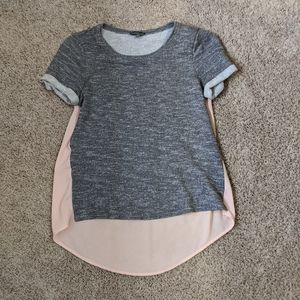 Grey top with sheer pink back